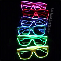 Sound/bass activated Light Up Sunglasses/glasses/shades
