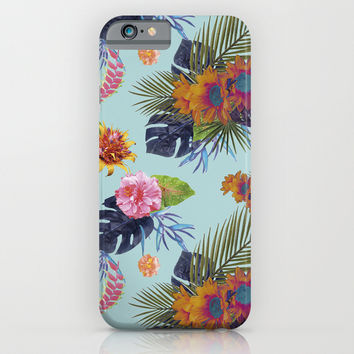 TROPICAL FLORAL iPhone & iPod Case by Nika