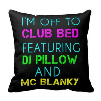 Club Bed Featuring DJ Pillow and MC Blanky  Dorm Bed Sofa Pillow Home Decor