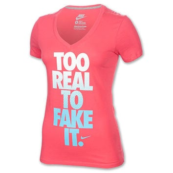 Women's Nike Too Real Mid V-Neck T-Shirt