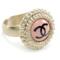 Chanel Pink Enamel Ring