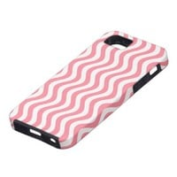 Pink And White Waves Stripes iPhone 5 Cases