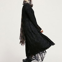 Free People Womens Lace Soft Long Jacket