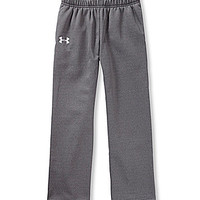 Under Armour 7-16 Fleece 2 Pants - Carbon Heather/White