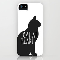 CAT AT HEART iPhone Case by Danielle Marie | Society6