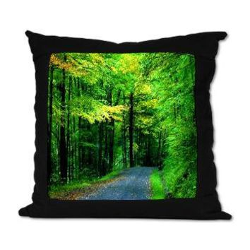 Country Road Suede Pillow> Bed and Bath> art by Erin Jordan
