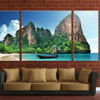 3 panels Framed canvas digital print, ready to hang on your wall