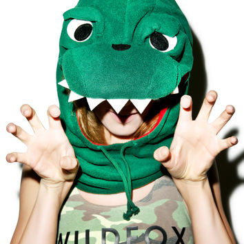 Sazac Dinosaur Neck Warmer Green One