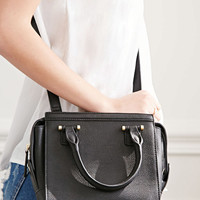 Faux Leather Mini Satchel
