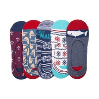 Womens Whale Nautical Liners 5 Pack