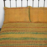 Noodle Jaipur Overdyed Sham - Set Of 2- Mustard One