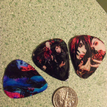 Blood On The Dance Floor Jayy And Dahvie Mix And Match Guitar Pic Earrings