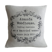 Vintage Style Personalised Cushion
