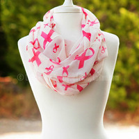 THE HOPE PINK RIBBON INFINITY SCARF