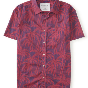 Palm Tree Woven Shirt