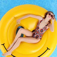 Smiley Face Pool Float- Assorted One