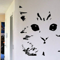 Cat Wall Art Wall Decal Kitten Decal Sticker Face Art Vinyl