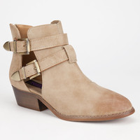 Yoki Catalina Womens Booties Beige  In Sizes