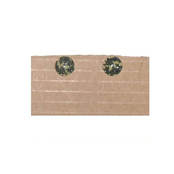 One Pair Camouflage Round Cabochon Stud Earrings
