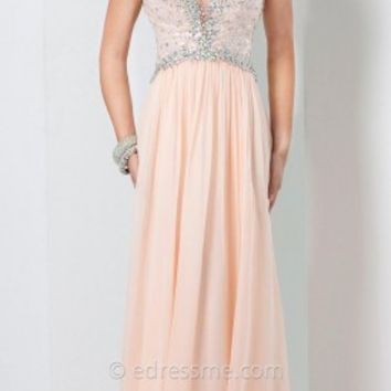 Iridescent Chiffon Prom Gown by Tony Bowls Le Gala