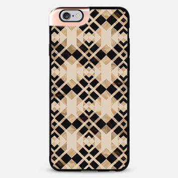 Abstract black and beige iPhone 6 Plus case by VanessaGF | Casetify