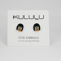 Tina Belcher Earrings - Bob's Burgers Studs