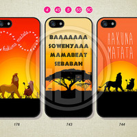 Phone Cases, iPhone 5S Case, iPhone 5 Case, iPhone 5C Case, iPhone 4 case, iPhone 4S case, HAKUNA MATATA, Case For iPhone --L03
