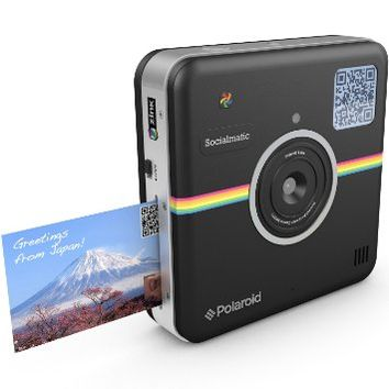 Polaroid Socialmatic 14MP Wi-Fi Digital Instant Print & Share Camera - Share on Socialmatic PhotoNetwork, Facebook, Instagram, Twitter & More - Black