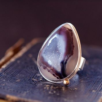 Tributary Druzy Ring by ShopClementine on Etsy