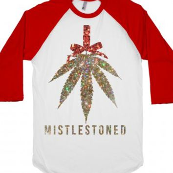 White/Red T-Shirt | Christmas Weed Shirts