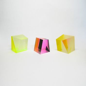 Pink Black Clear Sculpture - ALL - OBJECTS