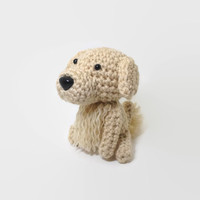 Golden Retriever Amigurumi Dog Crochet Animal Stuffed Puppy Plush Office Decor Ornament / Made to Order