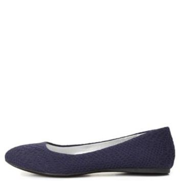 Pointed Toe Lace Ballet Flats by Charlotte Russe