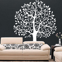 Huge Big Tree with Leaves Vinyl Decal Wall Sticker Furniture Removable Art Decal Decor DIY! Free shipping! Give Your Bedroom Some Love !