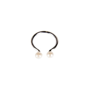 Pearl Cuff Knuckle Ring