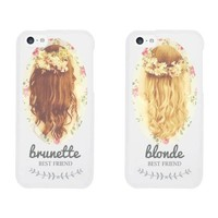 Cute BFF Phone Cases - Brunette and Blonde Best Friends Phone Covers for iphone 4, iphone 5, iphone 5C, iphone 6, iphone 6 plus, Galaxy S3, Galaxy S4, Galaxy S5, HTC M8, LG G3