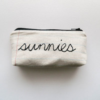 Fabric Sunglass Case with Hand-Embroidery