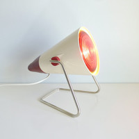 Mid Century Modern Table Heat Lamp - Philips Infraphil Infrared - Charlotte Perriand - Mad Men, 1960's, Home, Health, Beauty, Atomic