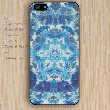 iPhone 5s 6 case colorful lighting blue mandala phone case iphone case,ipod case,samsung galaxy case available plastic rubber case waterproof B320