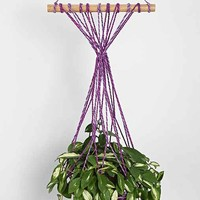 Magical Thinking Macrame Hanging Planter- Blue One