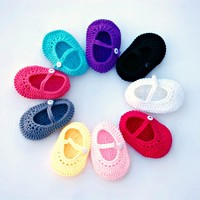 Darling Crocheted Mary Janes