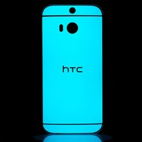 HTC One M8 Glow Blue Skins, Wraps and Cases from SlickWraps