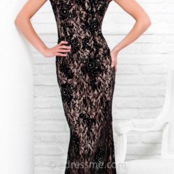 Lace Open Back Prom Gown by Tony Bowls Le Gala