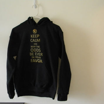 Keep Calm And May The Odds Be Ever In Your Favor HOODIE (Pullover Hooded Sweatshirt)
