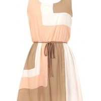 Colorblock Belted Dress