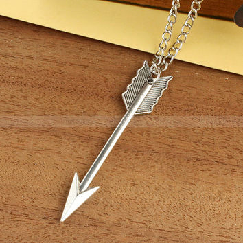 Katniss arrow necklace inspired by The Hunger Games