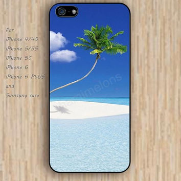iPhone 5s 6 case colorful Beach coconut tree phone case iphone case,ipod case,samsung galaxy case available plastic rubber case waterproof B390