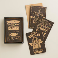 Parisian Steampunk Boxed Notecards, Set of 12 - World Market