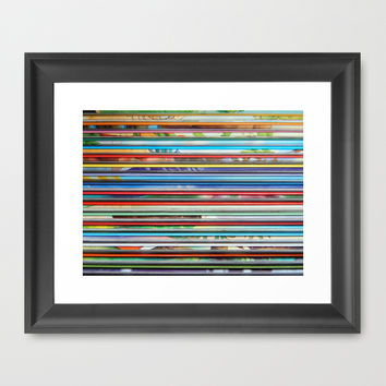 colorful children books Framed Art Print by Frankipeti