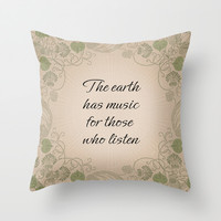 Earth Music Throw Pillow by LLL Creations